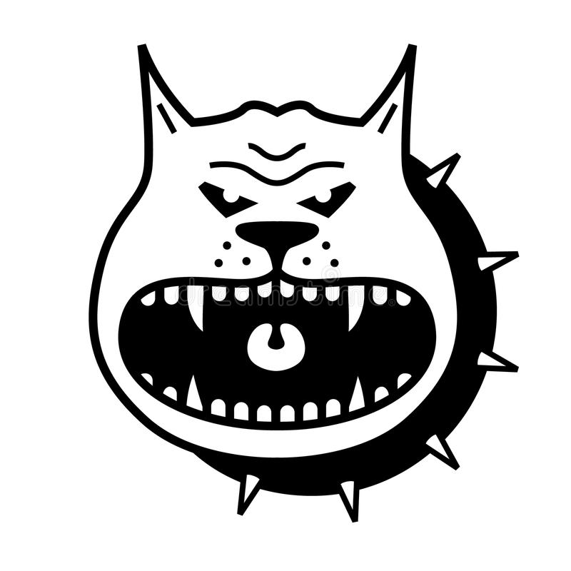 Hundevektorform lizenzfreie abbildung