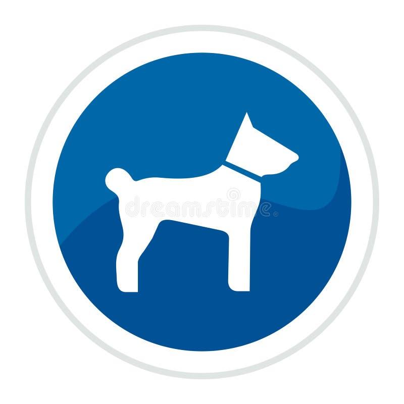 Hundeweb-Taste lizenzfreie abbildung