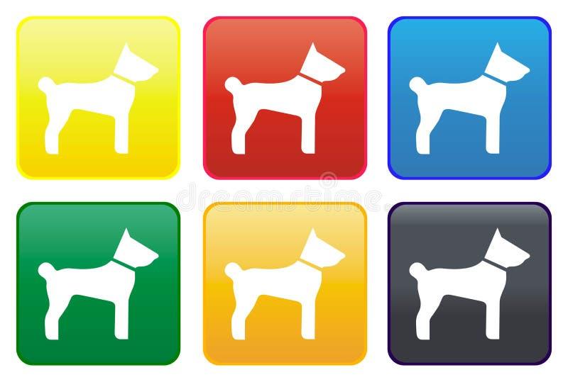 Hundeweb-Taste vektor abbildung