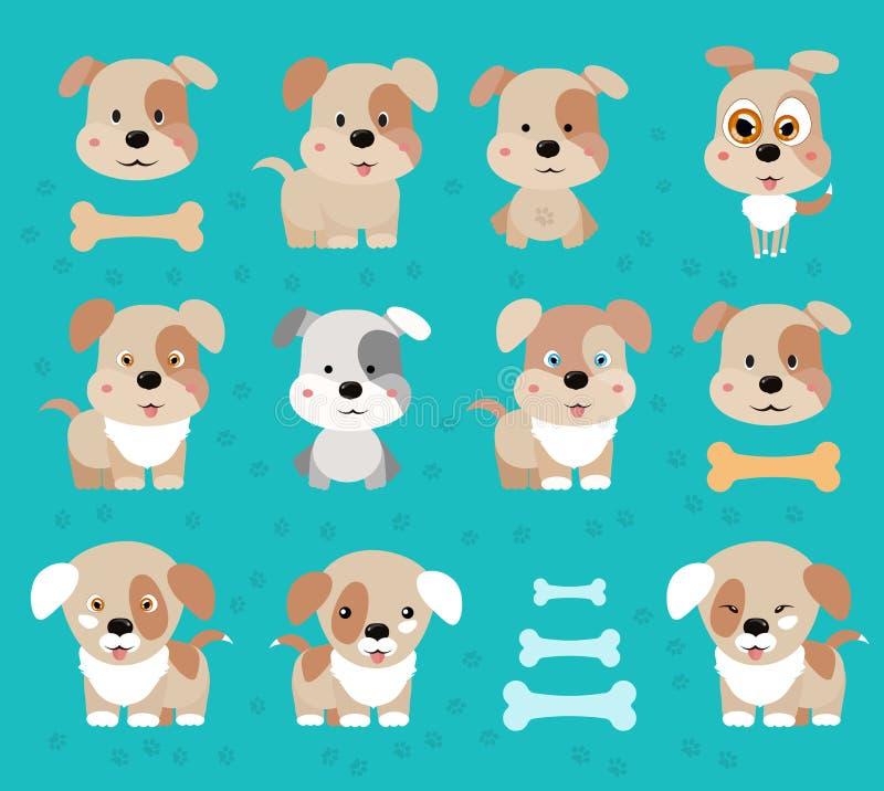 Hundewelpe Glückliche Hundekarikatur lizenzfreie stockfotografie
