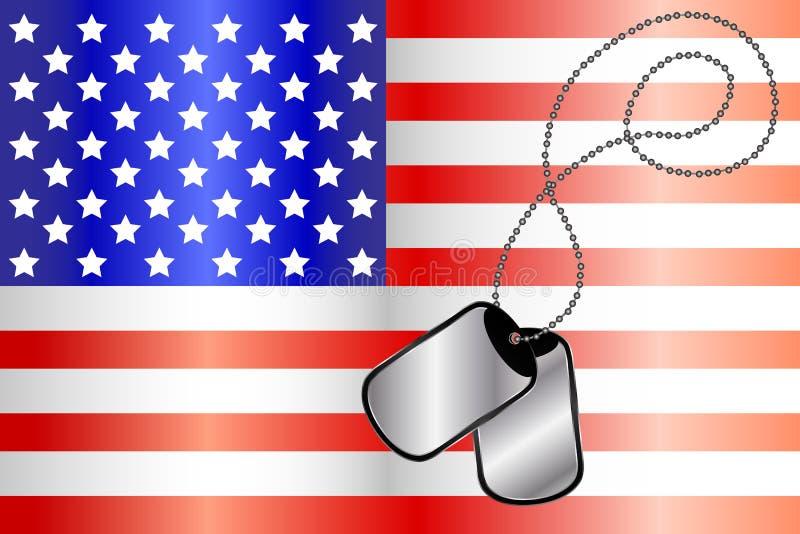 hundflaggan tags USA royaltyfri illustrationer
