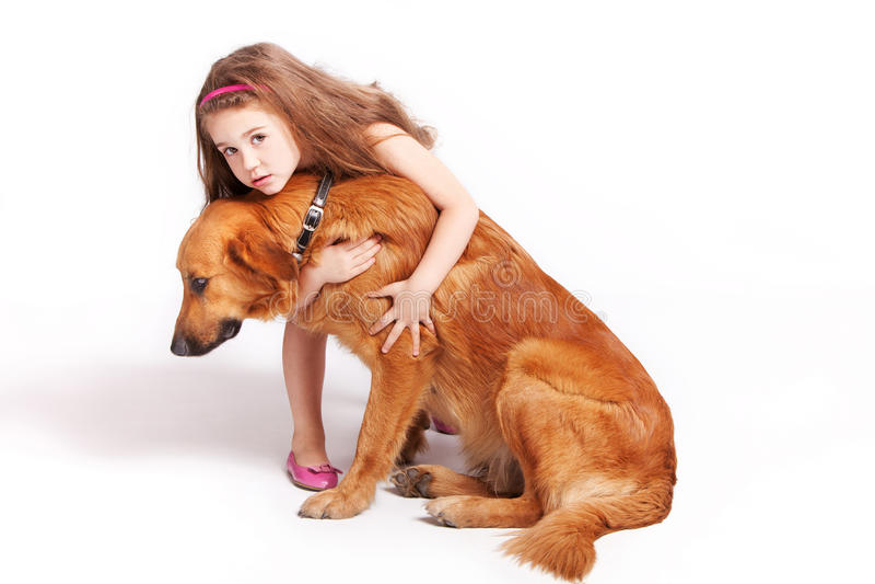hundflicka arkivfoton