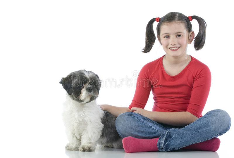 hundflicka henne royaltyfria foton