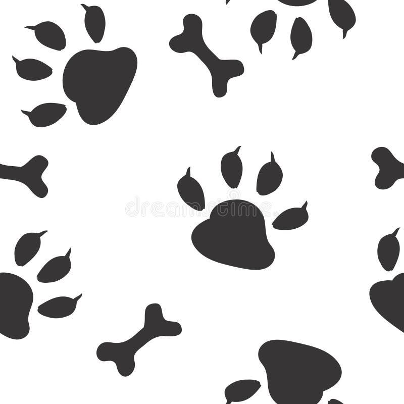 hundfotspår stock illustrationer