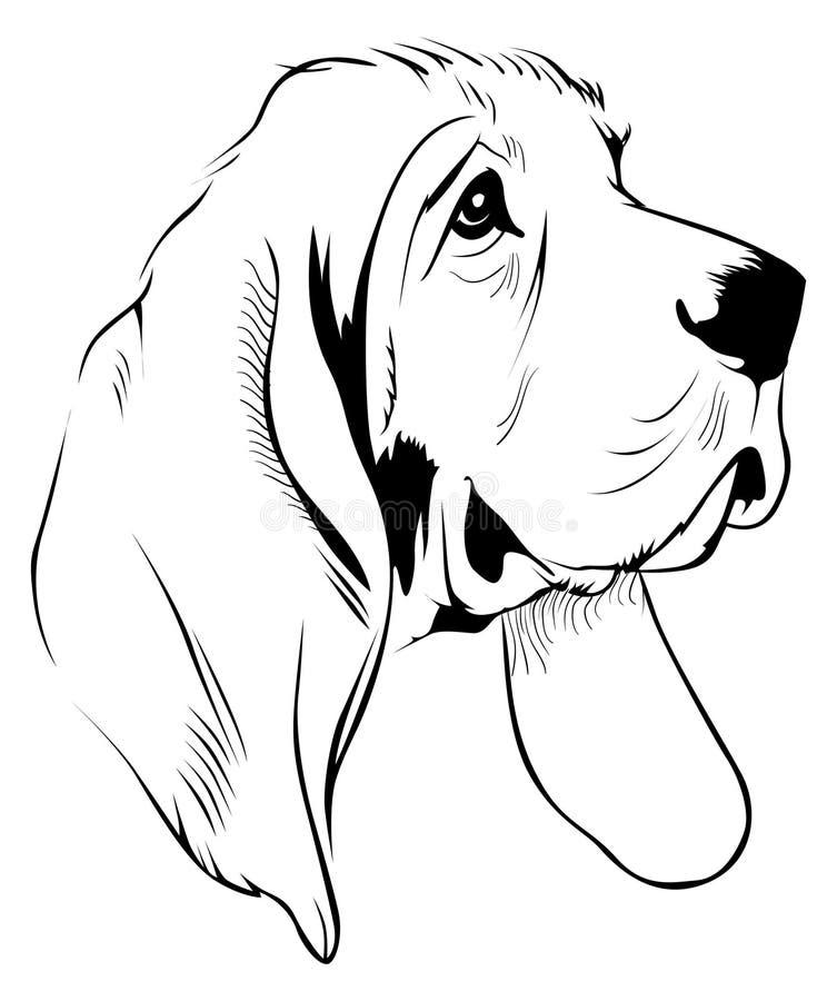 hundframsida vektor illustrationer