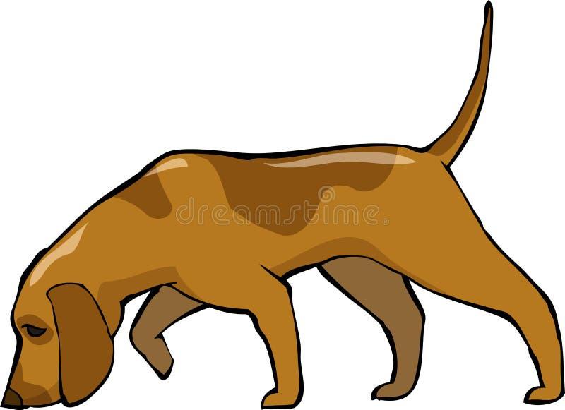 Hundhund royaltyfri illustrationer