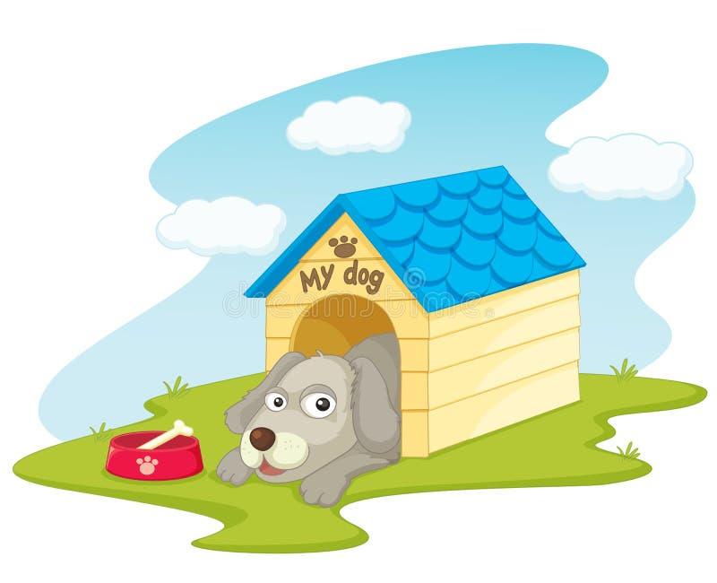 hundhus stock illustrationer