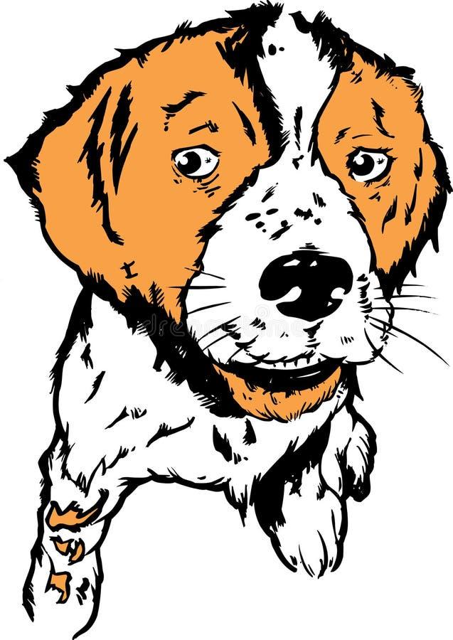 hundillustrationvalp royaltyfri illustrationer