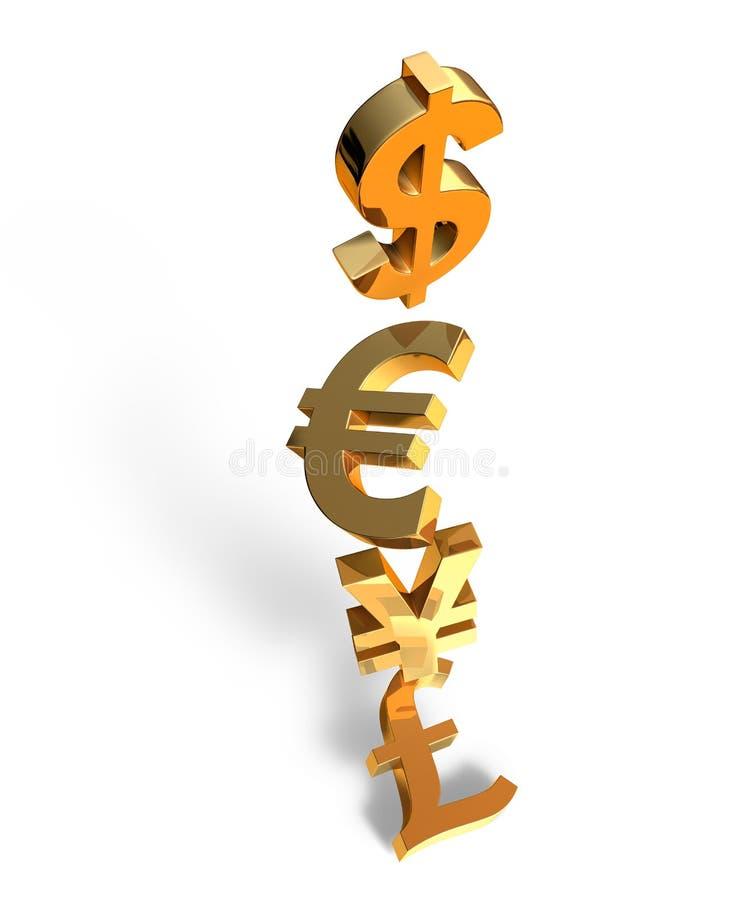 Hundimiento del dinero en circulación ilustración del vector