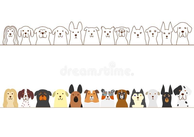 Hundkapplöpninggräns vektor illustrationer