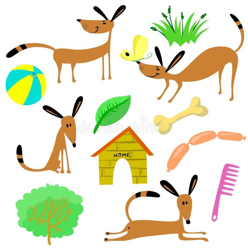 Hundkapplöpningmaterial vektor illustrationer