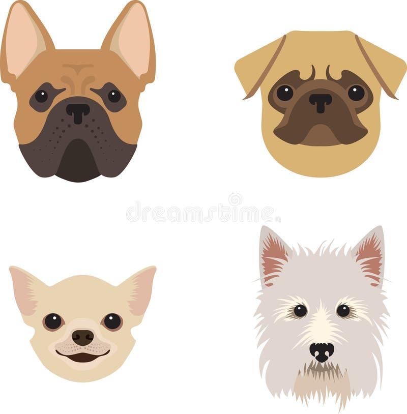 Hundkapplöpninguppsättningen för husdjur-shoppar vektor illustrationer