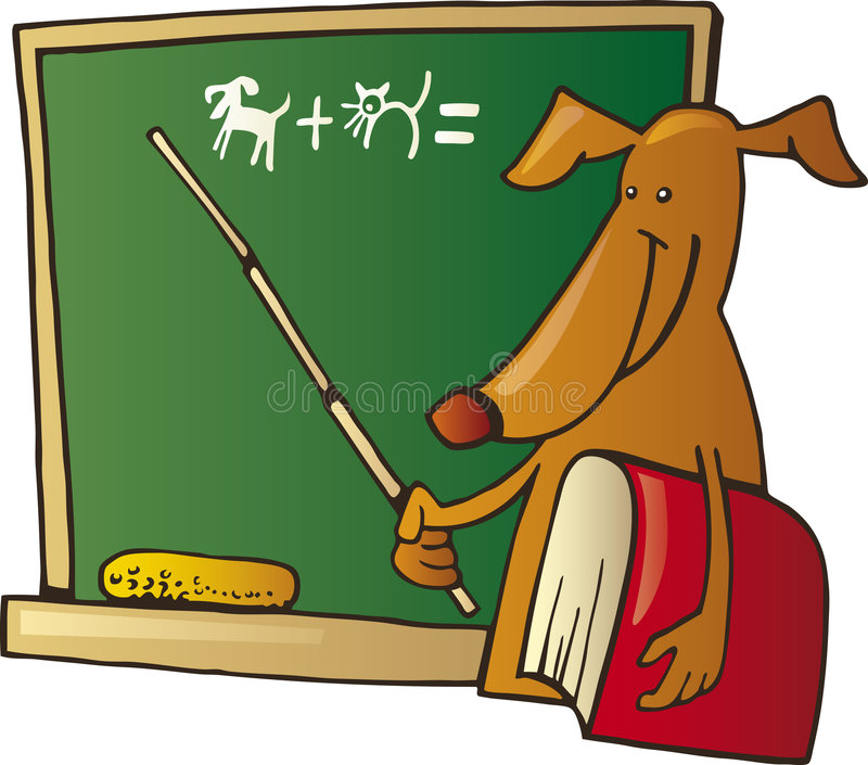 hundlärare vektor illustrationer