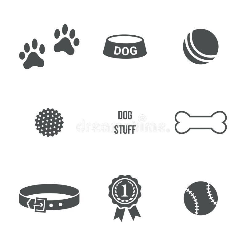 Hundmaterialuppsättning royaltyfri illustrationer