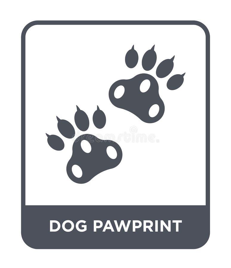 hundpawprintsymbol i moderiktig designstil HundPawprint symbol som isoleras på vit bakgrund enkel symbol för hundpawprintvektor o royaltyfri illustrationer