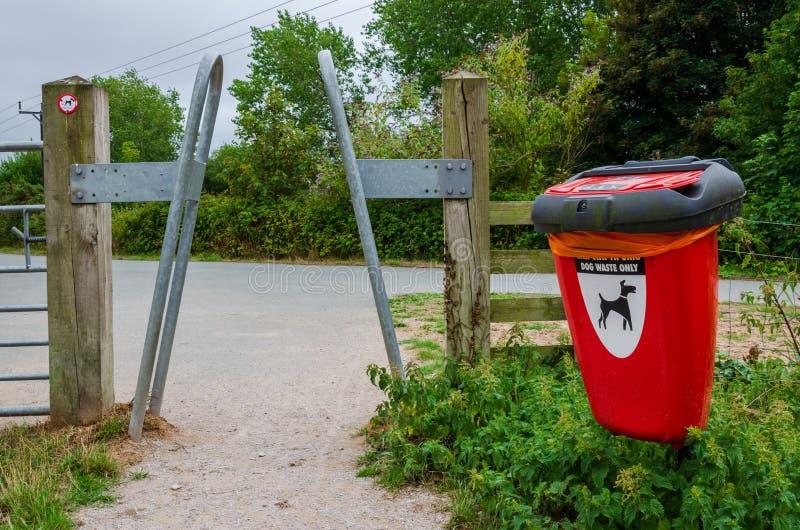 Hundrörafacket och åtstramningbarriären på ingången till ett land parkerar fotografering för bildbyråer