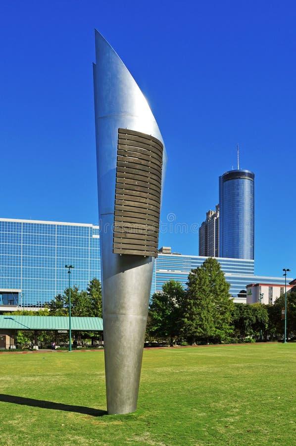 Hundraårs- olympisk Park, Atlanta, United States royaltyfri foto