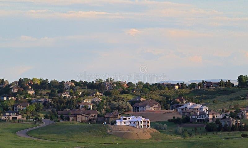 Hundraårsjubileum Colorado - Denver Metro Area Residential Panorama arkivbilder