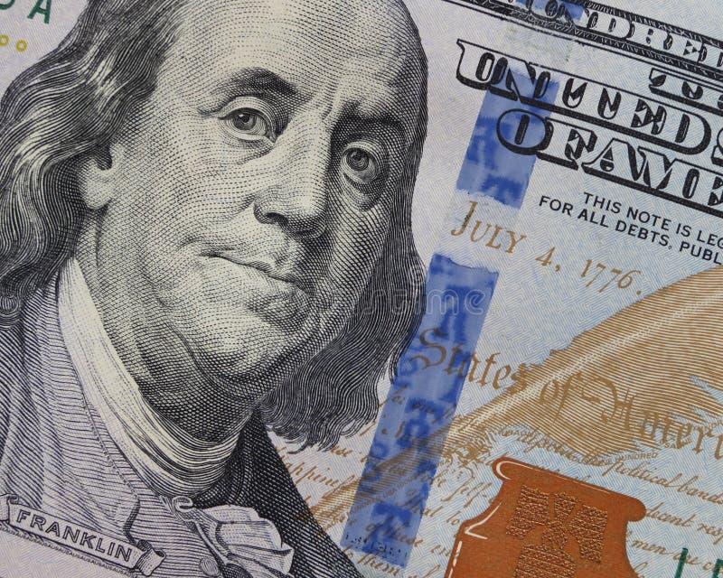 Hundra dollar - 100 dollar Bill Stock Photo arkivbild