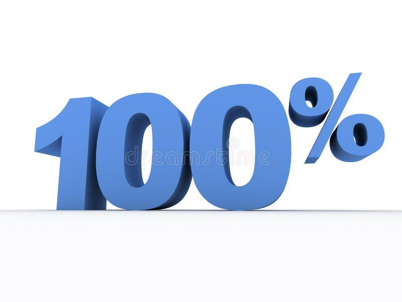 hundra en procent stock illustrationer