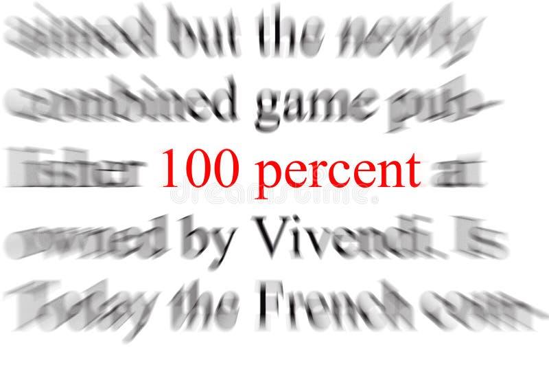 hundra en procent royaltyfria foton