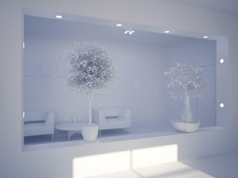 hundra interiornittio ställde in sex vektor illustrationer