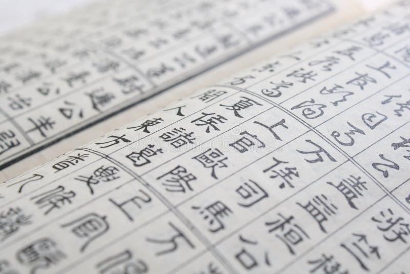 Hundra kinesiska efternamn royaltyfri foto