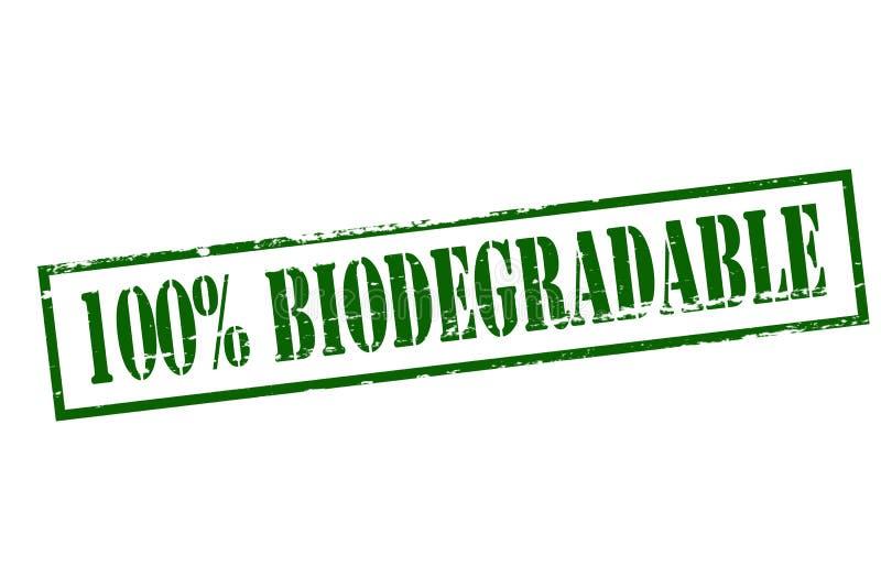 Hundra procent biologiskt nedbrytbar stock illustrationer