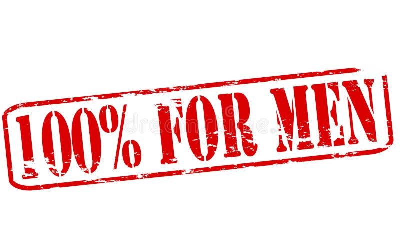 Hundra procent för män vektor illustrationer
