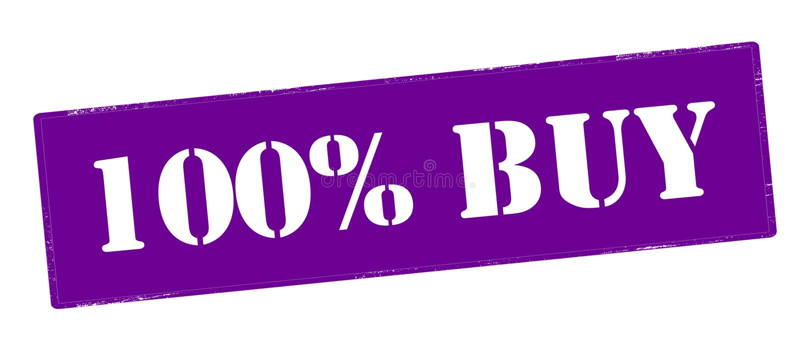 Hundra procent köp vektor illustrationer