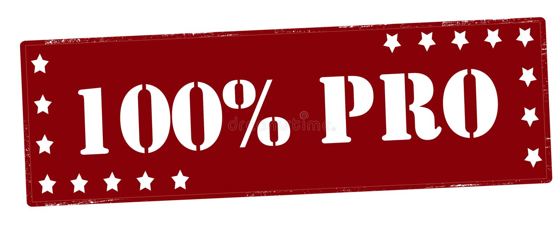 Hundra procent pro- royaltyfri illustrationer