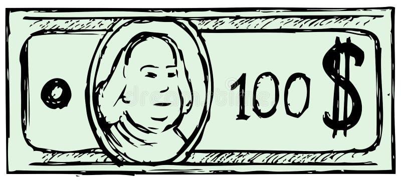 hundred dollar bill stock vector illustration of graphic 27927723 rh dreamstime com  100 dollar bill vector download