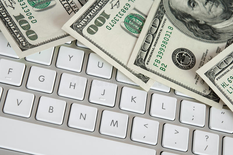 Download Hundred Dollar Bills On Computer Keyboard Stock Photo - Image: 18398816