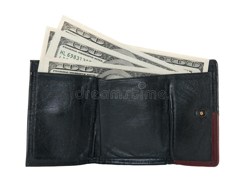 Hundred Dollar Bills In A Wallet Royalty Free Stock Photography