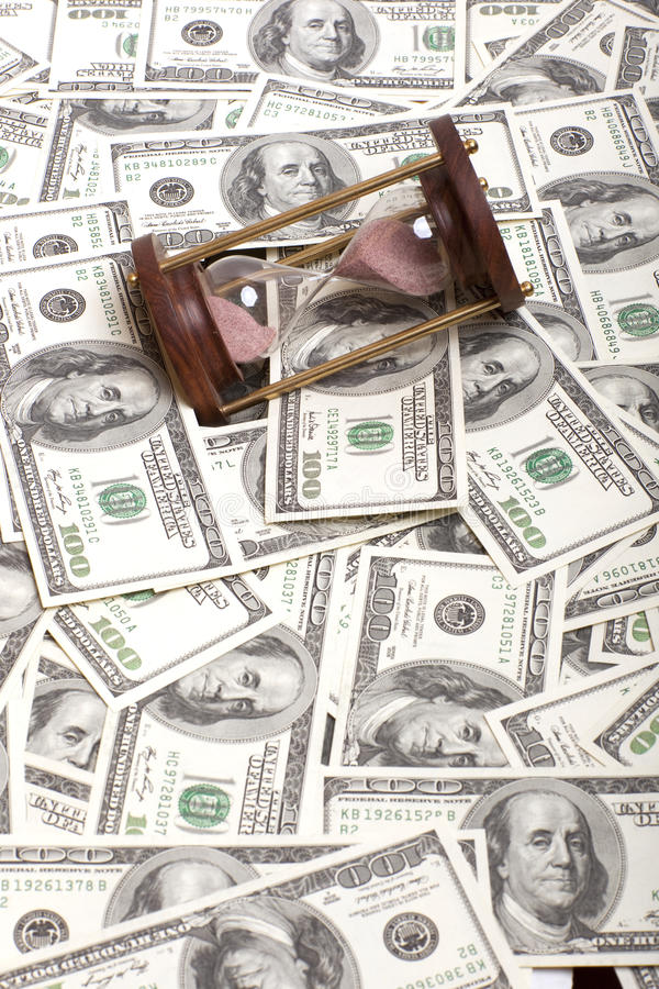 Download Hundred Dollar And Hourglass Stock Photo - Image: 25944918