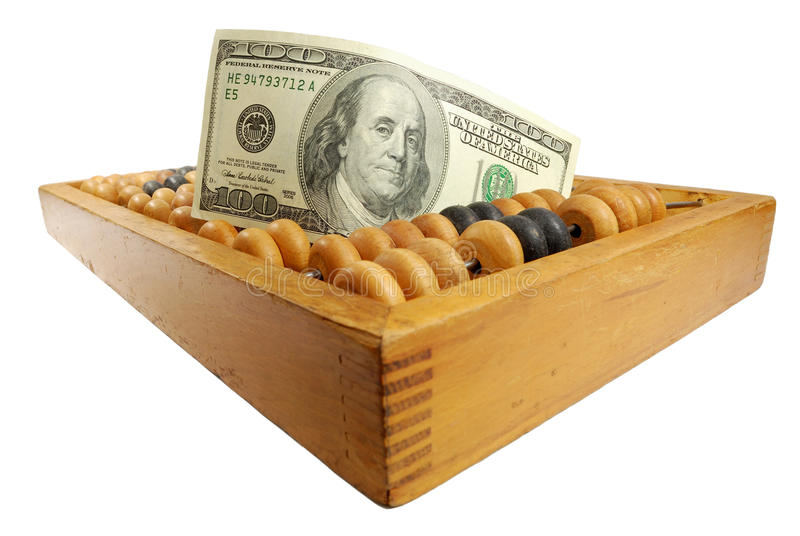 Download Hundred Dollars And Old Calculator Stock Photo - Image: 12630960