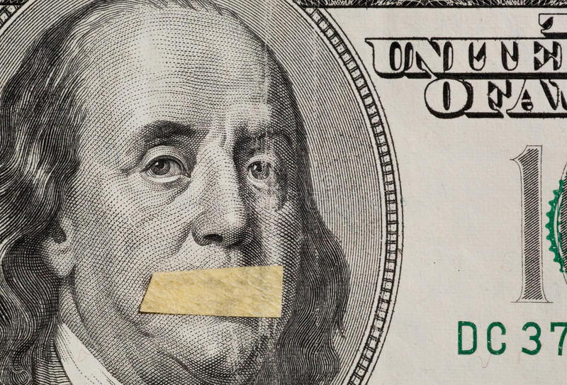 Hundred Dollars Usa A Symbol Of Instability Of The Economy Stock