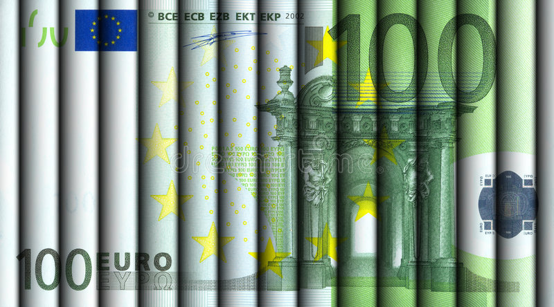 Download Hundred Euro bill stock image. Image of earn, green, debit - 576419