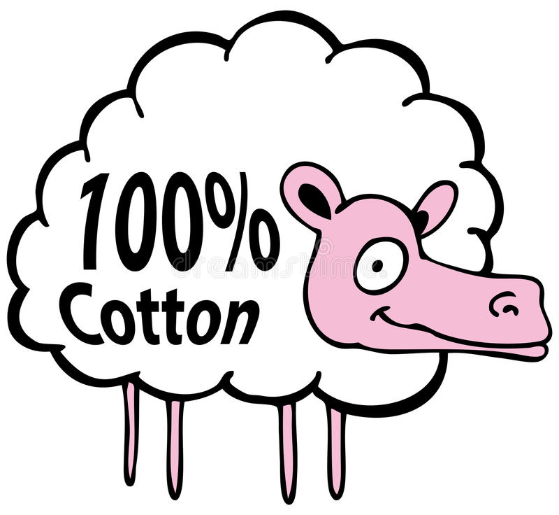 Download Hundred Percent Cotton Sheep Stock Vector - Image: 17668206
