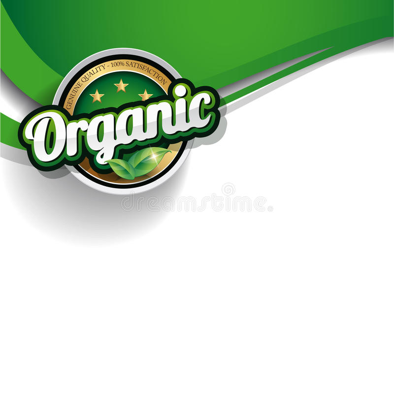Hundred percent organic nature label royalty free illustration
