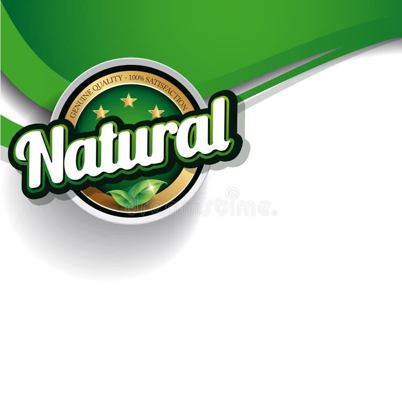 Hundred percent organic nature label vector illustration