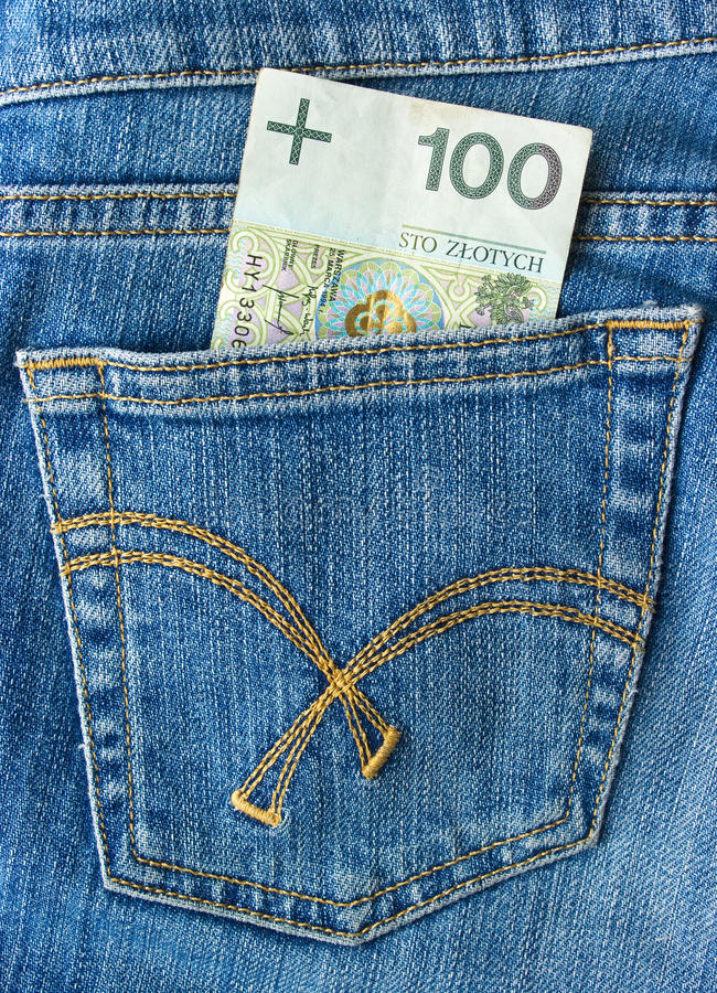 Download Hundred zlotys stock photo. Image of pants, casual, fabric - 22618178