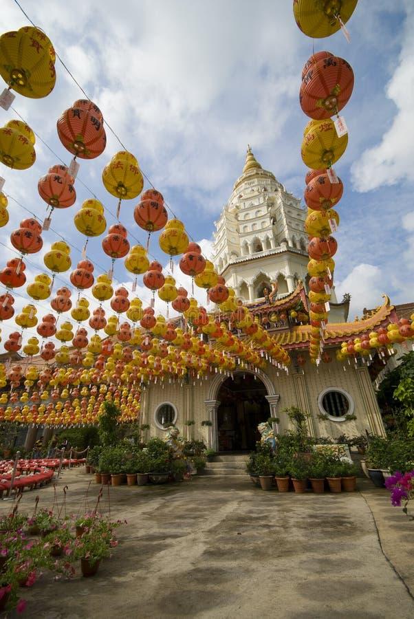 Hundreds Of Lanterns At Kek Lok Si Temple Stock Image
