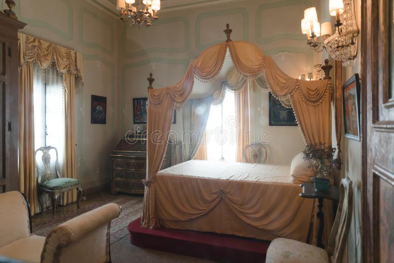Hundreds of years old house of Vizcaya Museum in Miami stock photography