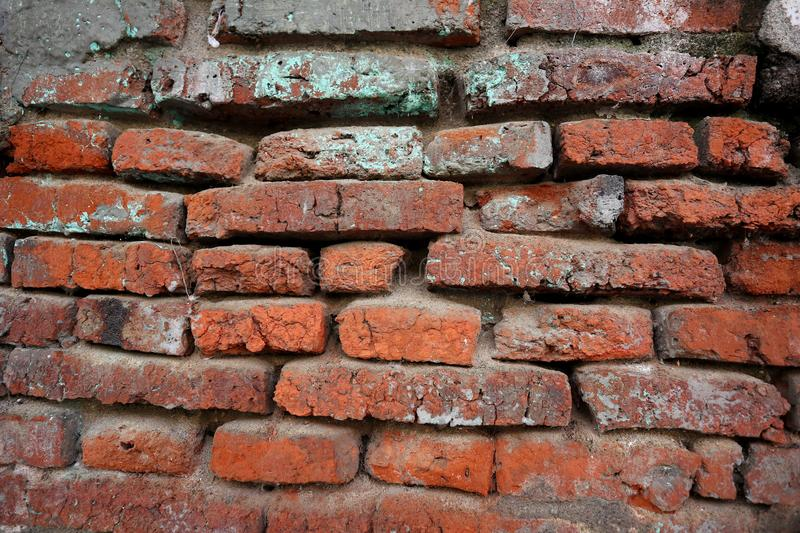 Hundreds of years old red brick walls are still intact and durable. Located in the old town complex of Semarang stock photography