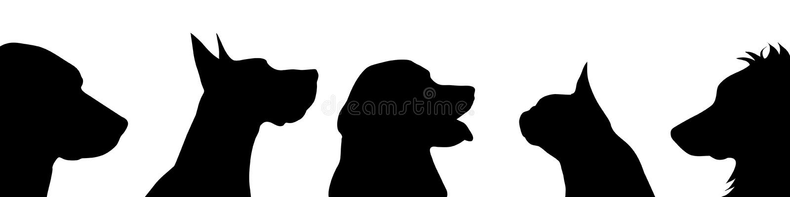 Hundsymbol stock illustrationer