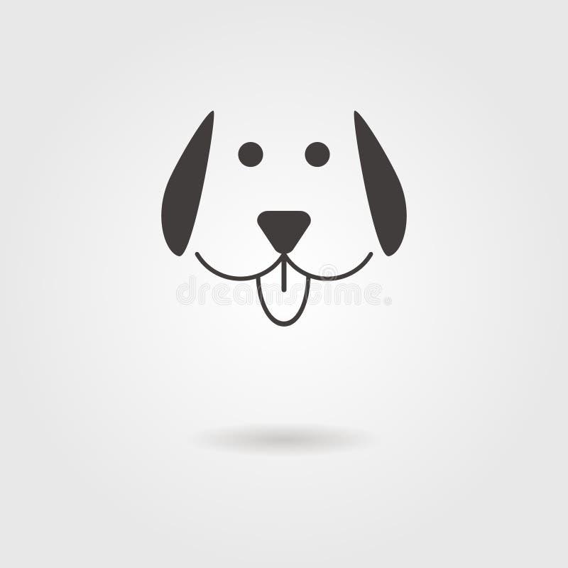 Hundsymbol med skugga royaltyfri illustrationer