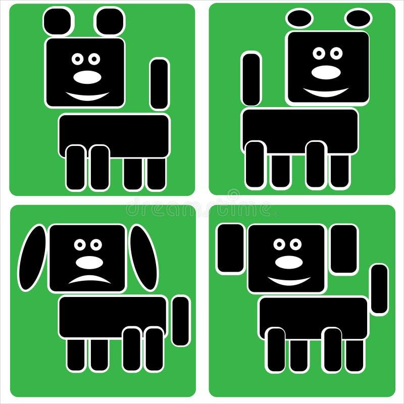 Download Hundsymboler Som Isoleras På En Gräsplan Vektor Illustrationer - Illustration av symboler, angus: 37347972