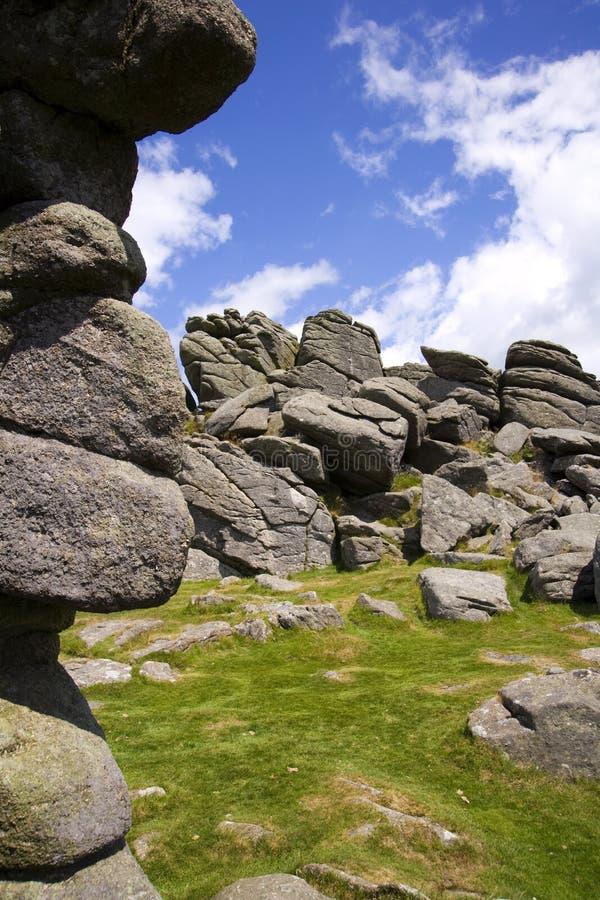 HundTor, Dartmoor, Devon royaltyfria bilder