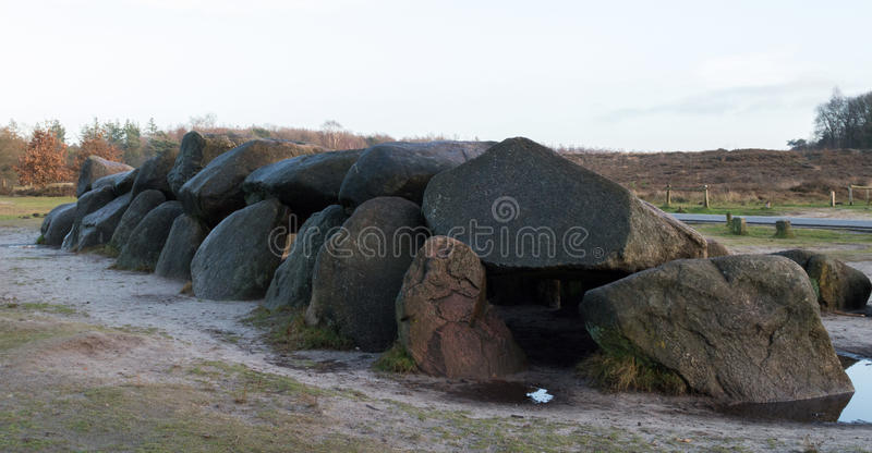 Hunebeds in Drenthe Netherlands. Beautiful photo of Dutch Hunebeds in Drenthe Netherlands royalty free stock images